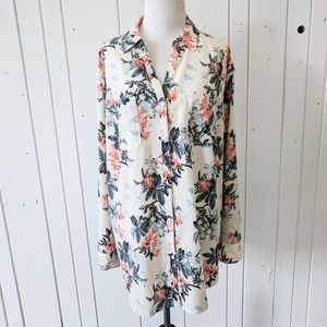 Talbots Nantucket Floral Blouse